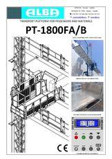 PT ALBA 1800FA/B plataforma suspendida nueva